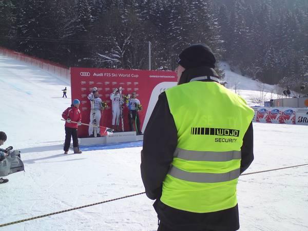 Personenschutz beim Skirennen